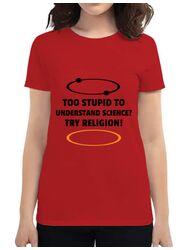 Tricou ADLER dama Try religion Rosu