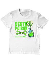 Tricou ADLER copil Death poison Alb