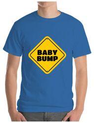 Tricou ADLER barbat Baby bump Albastru azuriu