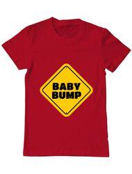 Tricou ADLER barbat Baby bump Rosu