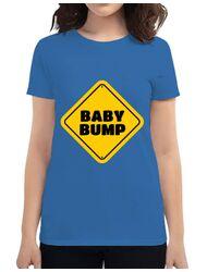 Tricou ADLER dama Baby bump Albastru azuriu
