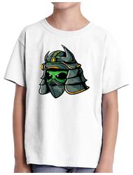 Tricou ADLER copil Alien samurai Alb