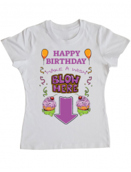 Tricou ADLER dama Make a wish Alb