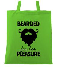 Sacosa din panza Bearded for her pleasure Verde mar