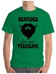 Tricou ADLER barbat Bearded for her pleasure Verde mediu