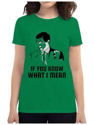 Tricou ADLER dama If you know what i mean Verde mediu