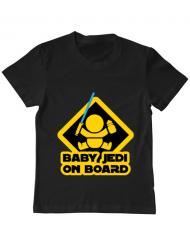 Tricou ADLER copil Baby Jedi Negru