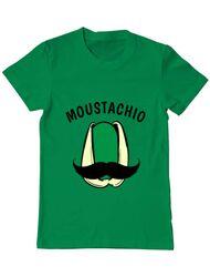 Tricou ADLER barbat Moustachio Verde mediu