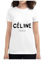 Tricou ADLER dama Celine paris Alb