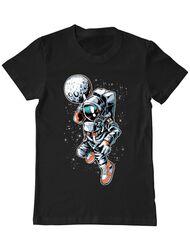 Tricou ADLER barbat Astronaut Negru