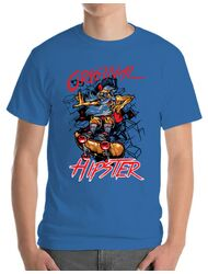 Tricou ADLER barbat Original hipster Albastru azuriu