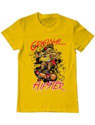 Tricou ADLER barbat Original hipster Galben