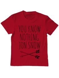 Tricou ADLER copil You know nothing Rosu