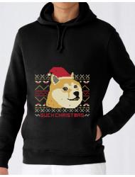 Hoodie barbat cu gluga Doge christmas Negru