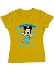 Tricou ADLER dama Absolvire Mickey Mouse Galben