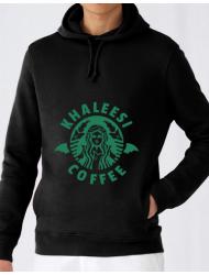 Hoodie barbat cu gluga Khaleesi coffee Negru