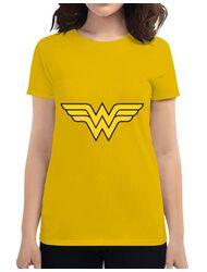 Tricou ADLER dama Wonder woman Galben
