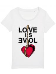 Tricou STANLEY STELLA dama Love is evil Alb