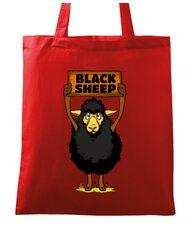 Sacosa din panza Black sheep Rosu