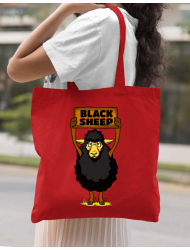 Sacosa din panza Black sheep Rosu