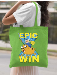 Sacosa din panza Epic win Verde mar