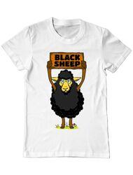 Tricou ADLER barbat Black sheep Alb