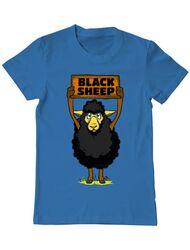 Tricou ADLER barbat Black sheep Albastru azuriu