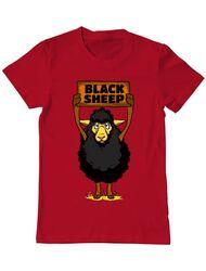 Tricou ADLER barbat Black sheep Rosu