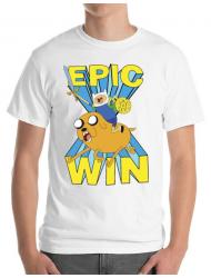 Tricou ADLER barbat Epic win Alb