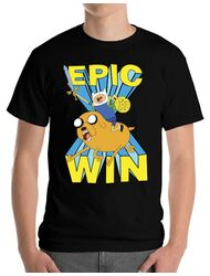 Tricou ADLER barbat Epic win Negru