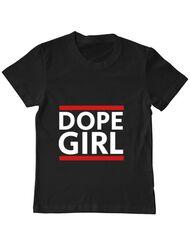 Tricou ADLER copil Dope girl Negru
