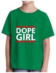 Tricou ADLER copil Dope girl Verde mediu