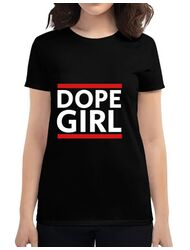 Tricou ADLER dama Dope girl Negru
