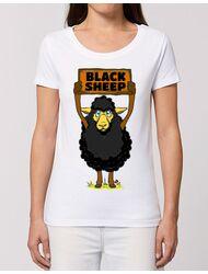 Tricou STANLEY STELLA dama Black sheep Alb