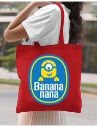 Sacosa din panza Bananana Rosu