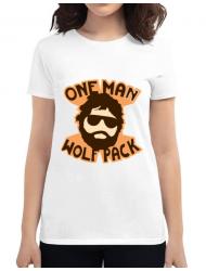 Tricou ADLER dama One man wolf pack Alb