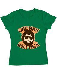 Tricou ADLER dama One man wolf pack Verde mediu