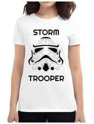 Tricou ADLER dama Storm trooper Alb