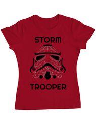 Tricou ADLER dama Storm trooper Rosu