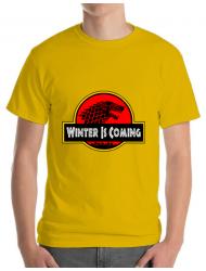Tricou ADLER barbat Jurassic winter Galben