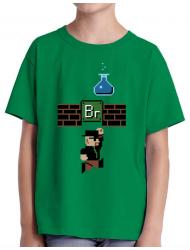 Tricou ADLER copil Breaking Mario Verde mediu
