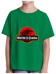 Tricou ADLER copil Jurassic winter Verde mediu