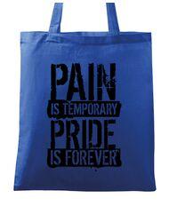 Sacosa din panza Pain and pride Albastru regal