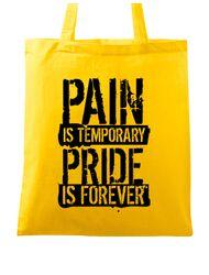 Sacosa din panza Pain and pride Galben