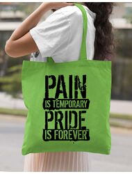 Sacosa din panza Pain and pride Verde mar