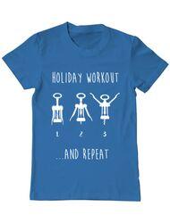 Tricou ADLER barbat Holiday workout Albastru azuriu