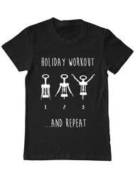 Tricou ADLER barbat Holiday workout Negru