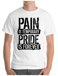 Tricou ADLER barbat Pain and pride Alb