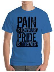 Tricou ADLER barbat Pain and pride Albastru azuriu