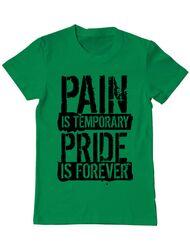 Tricou ADLER barbat Pain and pride Verde mediu